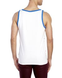 Wesc | White Aztec Stripe Tank for Men | Lyst