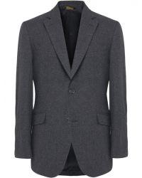 Jules B - Gray Mens Wool Blend Hacking Jacket for Men - Lyst