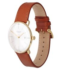 Junghans - Brown Calfskin Max Bill Automatic Watch for Men - Lyst
