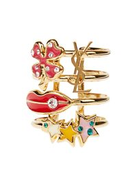 Saint Laurent | Multicolor Trésor Ring | Lyst