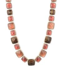 Anne Klein | Pink Faceted Stone Collar Necklace | Lyst