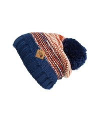 The North Face Blue 'antlers' Beanie for men