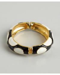 Kenneth Jay Lane | Blue Black And White Dot Enamel Bangle | Lyst