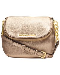 Michael Kors | Metallic Michael Bedford Flap Crossbody | Lyst