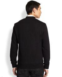 Alexander McQueen - Black Skull Intarsia Zip Jacket for Men - Lyst