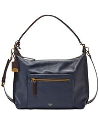 Fossil | Blue Vickery Leather Shoulder Bag | Lyst