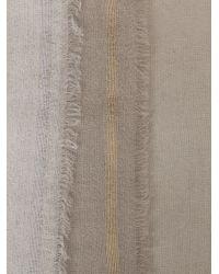 Faliero Sarti - Gray Metallic Stripe Scarf - Lyst