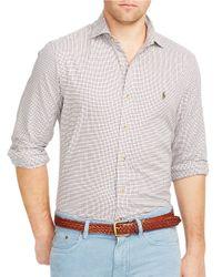 Polo Ralph Lauren   Purple Tattersall Twill Shirt for Men   Lyst