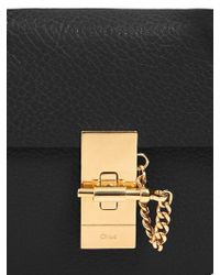 Chloé - Black Nano Drew Grained Nappa Leather Bag - Lyst