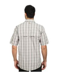 Carhartt - Gray Force Mandan Plaid S/s Shirt for Men - Lyst