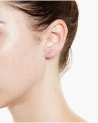 Asherali Knopfer - Black 18K Gold And Yellow Sapphire Bar Earring - Lyst