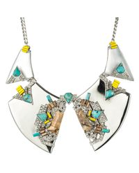 Alexis Bittar - Metallic Desert Deco Divided Bib Necklace - Lyst
