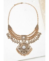 Forever 21 | Metallic Medallion Bib Necklace | Lyst