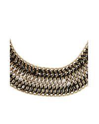 BCBGMAXAZRIA | Metallic Woven Box-chain Necklace | Lyst