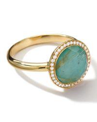 Ippolita - Blue 18k Gold Rock Candy Lollitini Ring Quartzturquoisediamonds - Lyst