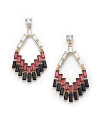 ABS By Allen Schwartz - Black Box Of Jewels Mixed Baguette Chandelier Earrings - Lyst