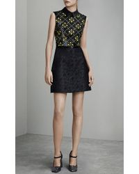 Mary Katrantzou - Yellow Karo Citrine Embroidery Amore Dress - Lyst