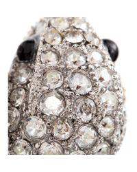 Roberto Cavalli | Metallic Swarovski Crystal-embellished Ring | Lyst