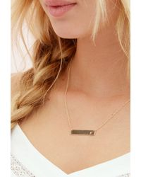 Forever 21 | Metallic Adorn512 Initial S Bar Necklace | Lyst