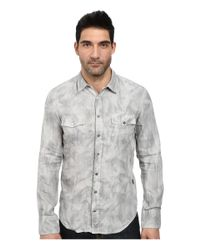 BOSS Orange - Gray Edaslime Slim Fit Long Sleeve Shirt In Linen Cold Dyed for Men - Lyst