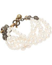 Lanvin | White Pearl Gloria Multistrand Bracelet | Lyst