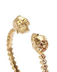 Alexander McQueen | Multicolor Double Skull Crystal Bangle | Lyst