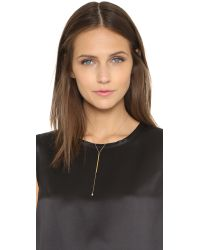 Jennifer Zeuner - Metallic Trinity Lariat Necklace - Gold - Lyst