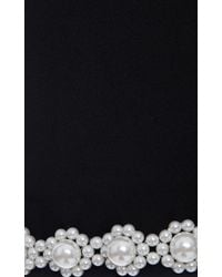 Simone Rocha - Black Pearl-Embellished Cropped Ankle Pants - Lyst