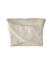 Calvin Klein | White Brick Stitch Metallic Twisted Neckwarmer | Lyst