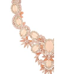 Jenny Packham - Pink Rosewater Necklace - Lyst