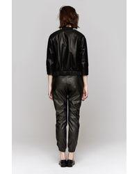 Heidi Merrick | Black Vegan Leather Sweatpants | Lyst