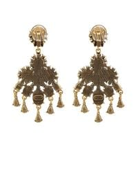 Oscar de la Renta | Blue Cabochon Chandelier Earrings | Lyst