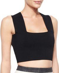 A.L.C. - Black Ali Sleeveless Knit Crop Top - Lyst