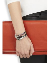 McQ | Black Swallow Triple Wrap Leather Bracelet | Lyst