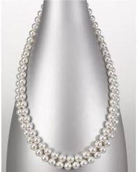 Majorica | White 8mm Endless Round Pearl Necklace | Lyst