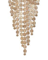 BCBGMAXAZRIA - Metallic Hammered Disc Necklace - Lyst