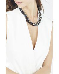 BCBGMAXAZRIA - Multicolor Stone Chain Necklace - Lyst