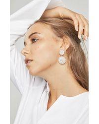 BCBGMAXAZRIA - Metallic Circle Stone Earrings - Lyst
