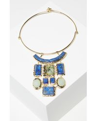 BCBGMAXAZRIA   Blue Natural Stone Necklace   Lyst
