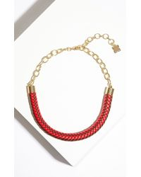 BCBGMAXAZRIA | Multicolor Braided Chain Necklace | Lyst