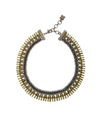 BCBGMAXAZRIA | Black Corded Stone Necklace | Lyst