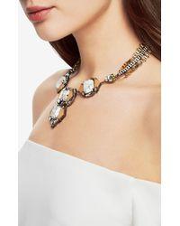 BCBGMAXAZRIA - Metallic Deco Statement Necklace - Lyst