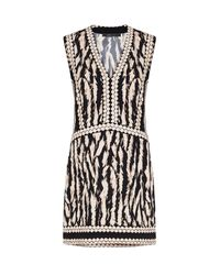 BCBGMAXAZRIA - Black Bridgit Animal Print Tunic Dress - Lyst