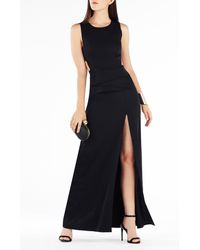 BCBGMAXAZRIA - Black Kiara Sleeveless Peplum Gown - Lyst