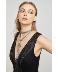 BCBGMAXAZRIA - Natural Braided Chain Tassel Lariat Necklace - Lyst