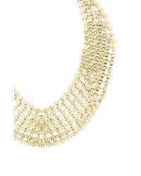 BCBGMAXAZRIA - Metallic Chain Bib Necklace - Lyst
