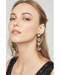 BCBGMAXAZRIA - Natural Drop Chain Stone Earring - Lyst