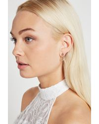 BCBGeneration - Metallic Pave Safety Pin Stud Earring - Lyst
