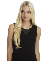 BCBGeneration - Metallic Stone And Chain Detail Twofer Necklace - Lyst