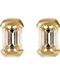 Tate - Metallic Women's Rectangular Stud Earrings - Lyst